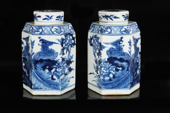 Two blue and white porcelain