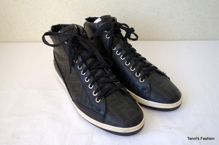 02b0521c7058 Fendi – Half high leather sneakers