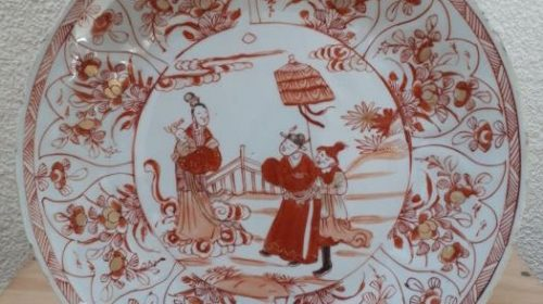 Rouge de Fer plate – Chinese – Kangxi – early 18th century