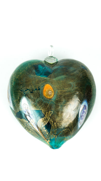 Francesco Fabris (Murano) - Green hanging heart