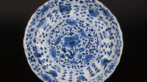 Blue-and-white porcelain Kangxi plate – China – 17th century Kangxi (period)