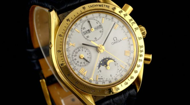 Omega – Speedmaster Gold – 18K Chronograph Full Calendar – M??czyzna – 1990-1999